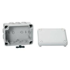 Boite de dérivation box IP55 larg.150mm haut.80mm long.105mm gris - Gedimat.fr