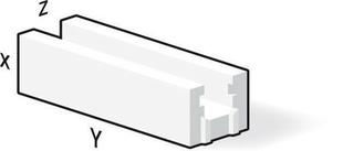 Bloc béton cellulaire chainage horizontal U long.60cm haut.25cm ép.15cm - Gedimat.fr