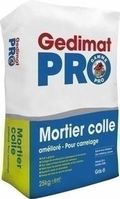 Colle à carrelage c2e en sac de 25kg pour sols et murs intérieurs, sols extérieurs. - Gedimat.fr