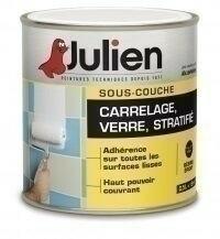 Sous couche verre carrelage et stratifié J7 JULIEN satinée pot de 2,5 litres - Gedimat.fr