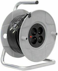 Enrouleur bricolage avec câble 40m H05VV-F 3G1,5 - Gedimat.fr