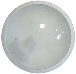 Hublot d'éclairage EBENOID rond polypropylène blanc et verre pour lampe à culot à visser E27 100W - Gedimat.fr