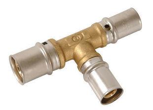 Té à sertir pour tube multicouche Fluxo diam.26mm/20mm/16mm - Gedimat.fr