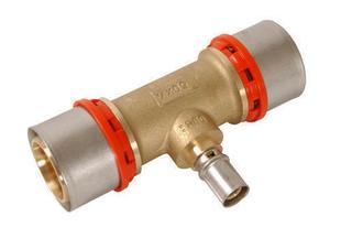 Té à sertir pour tube multicouche Fluxo diam.32mm/20mm/32mm - Gedimat.fr