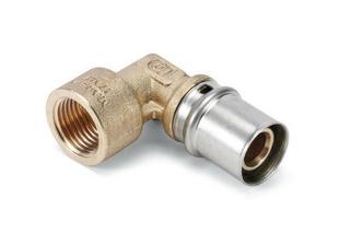 Coude à sertir pour tube multicouches NICOLL Fluxo angle 90° diam.20mm sortie à visser femelle diam.20x27mm - Gedimat.fr