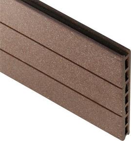 lame en bois composite pour claustra long 1 79m coloris brun exotique. Black Bedroom Furniture Sets. Home Design Ideas