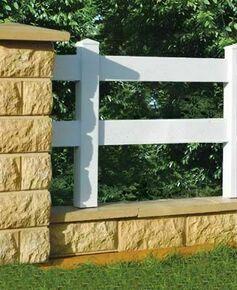 Gaine de 2 lisses plates PVC blanc pour clôture PVC - Gedimat.fr