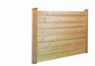 Lame en bois (Pin du Nord) pour clôture H classique Classe 4 ép.28mm larg.14,5cm long.2,00m brun - Gedimat.fr