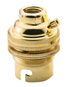 Douille électrique laiton culot à baionnette B22 double bague - Gedimat.fr