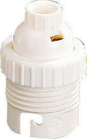 Douille électrique nylon culot B22 blanche double bague - Gedimat.fr