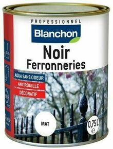 Peinture antirouille noir ferronnerie - pot 0,75l - Gedimat.fr