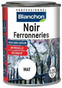 Peinture noire pour ferronnerie 250 ml - Gedimat.fr