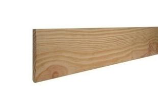 Plinthe en Pin des Landes sans nœud angles vifs section 10x110mm long.2,00m - Gedimat.fr