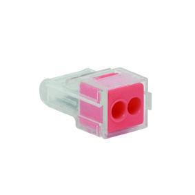 Borne électrique automatique avec alvéoles de test 2 pôles coloris rouge 8 pièces - Gedimat.fr