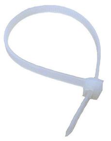 Collier de serrage pour câblage électrique incolore larg.2,5mm long.100mm en sachet de 25 pièces - Gedimat.fr