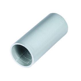 Manchon droit pour tube IRL coloris gris diam.20mm en sachet de 2 pièces - Gedimat.fr