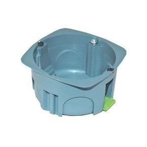 Boîte d'encastrement 1 poste pour cloison creuse diam.67mm prof.40mm coloris gris - Gedimat.fr
