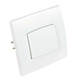 Interrupteur ou va et vient simple série PERFECT 6A coloris blanc mat sous film de 1 pièce - Gedimat.fr