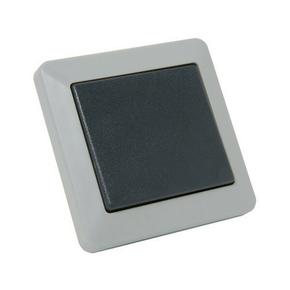 Interrupteur ou va et vient série OPALINE étanche 10A coloris gris - Gedimat.fr