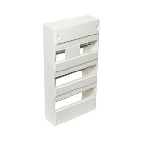 Coffret modulaire de distribution électrique blanc à équiper 3 rangées de 39 modules - Gedimat.fr