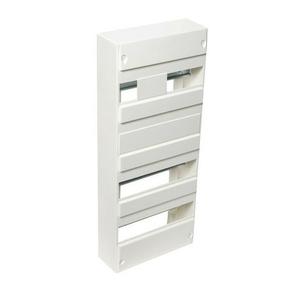 Coffret modulaire de distribution électrique blanc à équiper 4 rangées de 52 modules - Gedimat.fr