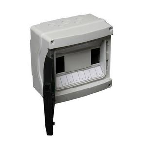 Coffret électrique modulaire à équiper étanche coloris gris capacité 8 modules - Gedimat.fr