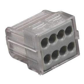 Borne électrique automatique avec alvéoles de test 8 pôles coloris gris 6 pièces - Gedimat.fr