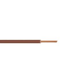 Câble électrique unifilaire cuivre H07VU section 1,5mm² coloris marron en bobine de 5m - Gedimat.fr