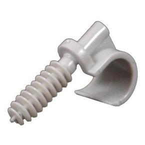 Clips simple à cheville pour fixation de tube IRL diam.20 à 25mm coloris gris sachet de 10 pièces - Gedimat.fr