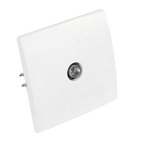 Prise télévision simple mâle diam.9,52mm série PERFECT coloris blanc mat sous film de 1 pièce - Gedimat.fr