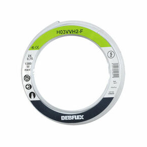 Câble électrique méplat H03VHH2F section 2x0,75mm² coloris blanc en bobine de 5m - Gedimat.fr