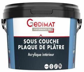 Impression acrylique opacifiante mate GEDIMAT pot de 10L blanc - Gedimat.fr