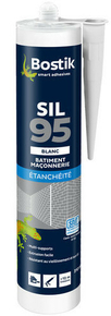 Mastic silicone neutre cartouche 310ml blanc - Gedimat.fr