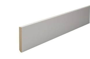 Plinthe MDF prépeinte angles vifs section 12x100mm long.2,44m - Gedimat.fr