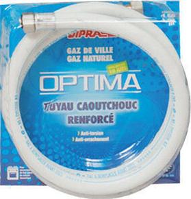 Tuyau flexible en caoutchouc renforcé Optima pour gaz naturel écrous 15x21 Long.1,50m - Gedimat.fr