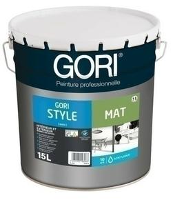 Peinture acrylique GORI M400 blanc calibré mat 15l - Gedimat.fr