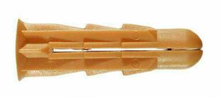 Cheville crantée D.8x32mm - sachet de 150 pièces - Gedimat.fr