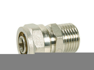 Raccord mâle fixe pour raccord multicouche à compression 12X17 tube diam.16mm - Gedimat.fr