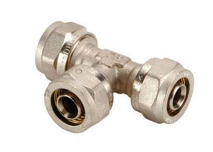 Té égal 3 sorties pour raccord multicouche à compression tube diam.16mm - Gedimat.fr
