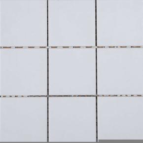 Carrelage pour sol en grès émaillé antidérapant dim.10x10cm coloris white - Gedimat.fr