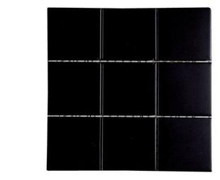 Carrelage pour sol ou mur en grés émaillé dim.20x20cm coloris black - Gedimat.fr