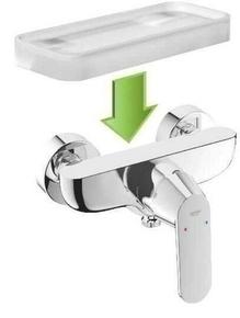 Tablette porte-savon pour mitigeur douche EUROSMART COSMOPOLITAN GROHE ép.18mm larg.30cm long.25cm chromé - Gedimat.fr
