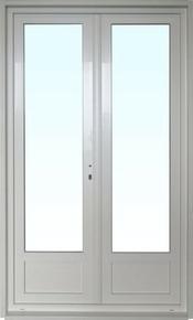 Porte fen tre pvc blanc calina isolation totale de 120 mm 2 vantaux haut 2 15 - Porte fenetre bois 2 vantaux prix ...