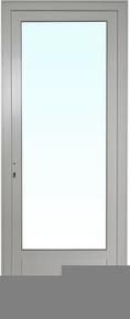 Porte fenêtre PVC blanc CALINA isolation totale de 100 mm 1 vantail droit tirant haut.2,15m larg.80cm grand vitrage - Gedimat.fr