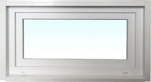 Chassis soufflet PVC blanc CALINA isolation totale de 100 mm haut.45cm larg.1,00m vitrage 4/16/4 basse émissivité - Gedimat.fr