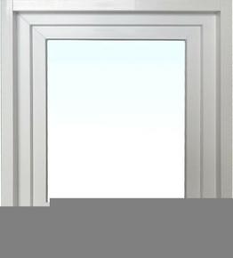 Fenêtre PVC blanc CALINA isolation totale de 120 mm 1 vantail ouverture à la française gauche tirant haut.60cm larg.40cm - Gedimat.fr