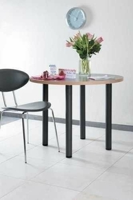 pied de table fixe en acier diam tre 60 mm inox bross. Black Bedroom Furniture Sets. Home Design Ideas