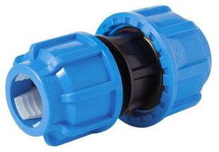 Jonction plastique réduite droite pour tube polyéthylène diam.25mm / diam.20mm en vrac 1 pièce - Gedimat.fr
