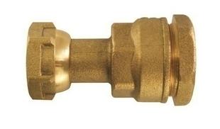 Raccord compteur laiton brut 2 pièces femelle diam.20x27mm pour tuyau polyéthylène diam.25mm en vrac 1 pièce - Gedimat.fr
