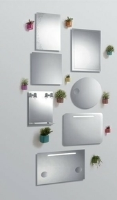 Miroir ROLLING haut.70cm long.50cm sérigraphie - Gedimat.fr
